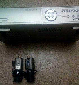 Cетевой Видеорегистратор + две аналоговые камеры