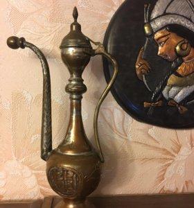 Кувшин арабский старинный бронза ручная работа