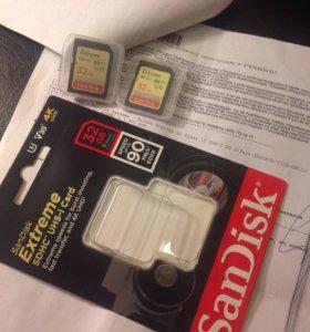 32Gb SanDisk Extreme Secure Digital HC Class 10 U