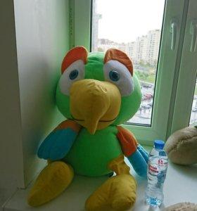 Мягкая игрушка попугай