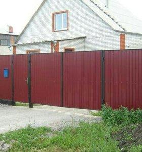 Заборы, ворота, калитки из профлиста
