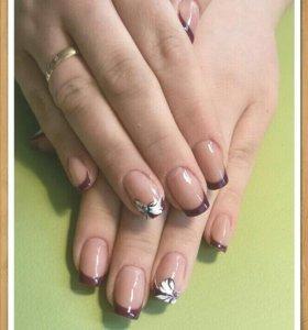 Наращивание и коррекция ногтей любой сложности
