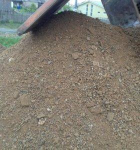 Доставка: щебня, песка,чернозем.
