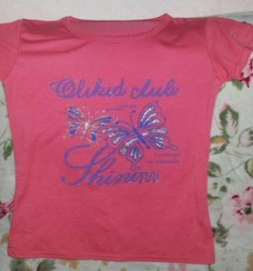 Розовая футболка. Р.44