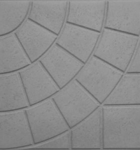 Тротуарная плитка в форме паутинки
