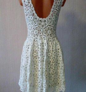 Платье ажурное крючком