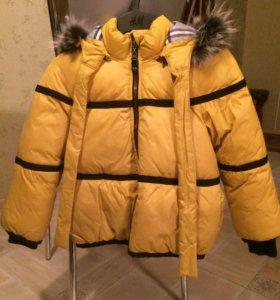 Куртка для девочки 4-6лет, зимняя.