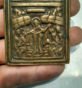 Иконка старинная бронза