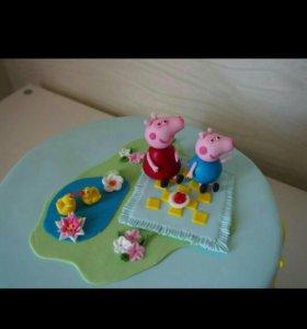 Торт со свинкой пепа