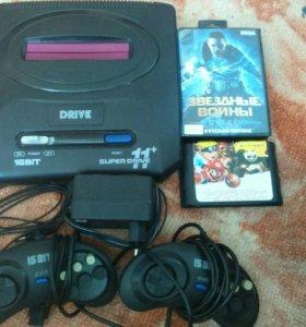 Игровая приставка Sega super drive 16 bit