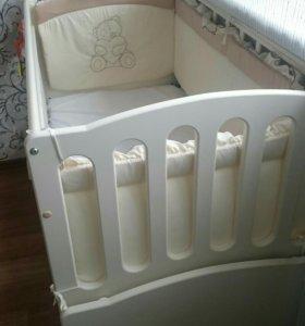Детская кроватка Укачайка