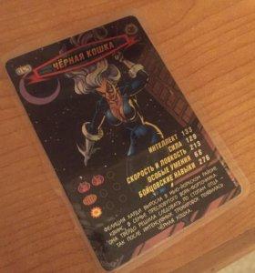 Карточка чёрная кошка из коллекции человек паук