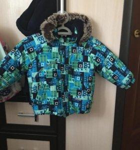 Куртка зимняя на мальчика lenne