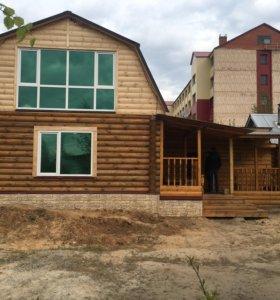 Дом+баня на дровах