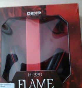 Срочно Игровые наушники DEXP FLAME H-320