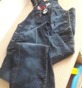 Комбинезон джинсовые для будущей мамы