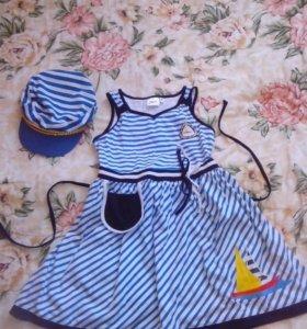 Платье с кепкой