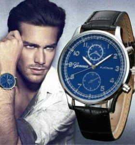 Новые стильные кварцевые часы ,смотрятся круто.