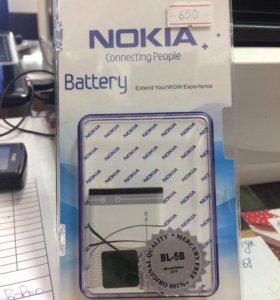 Аккумуляторная батарея Nokia BL-5B