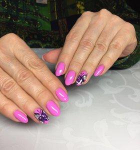 Маникюр,покрытие ногтей гель лаком