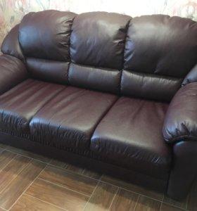 Кожаный диван срочно!