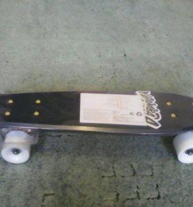 Скейтборд Yamb petrol white