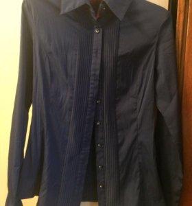 Рубашка темно синего цвета
