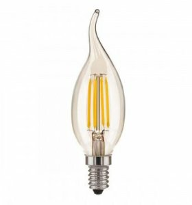Светодиодня лампа свеча на ветру