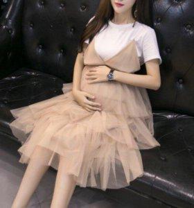Платье+футболка для беременных