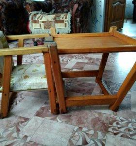 Стульчик для кормления+столик с сидением