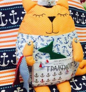 Текстильные коты ручной работы