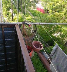 Трубки из нерж.для сушки белья на балконе