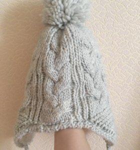Тёплая шапка с помпоном