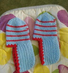 Носки вязаные, ручная работа,новые