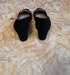 Туфли из натуральной замши. НОВЫЕ.