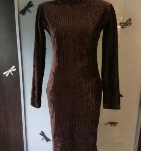 Модное платье-резинка(велюр)