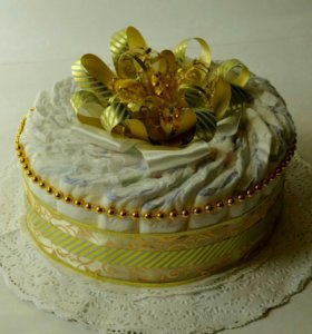 Торт из памперсов. Торт из подгузников.
