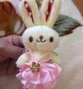 Мягкая игрушка маленькая заяц