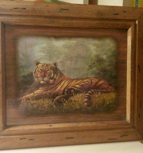 Ключница настенная Тигр Новая