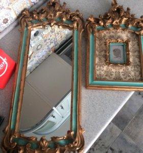 Зеркало и фоторамка