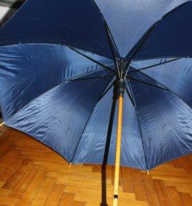 Зонт синий полуавтомат
