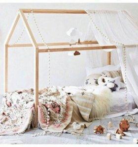 Кроватка-Домик с матрасом