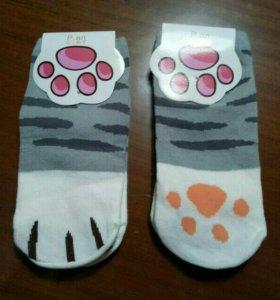 Носки кошачьи лапки