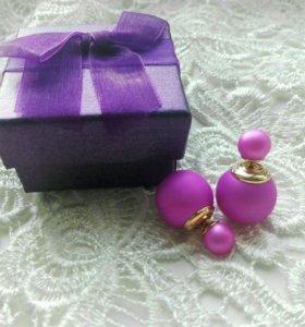 Серьги пусеты Dior и подарочные коробочки. 6цветов