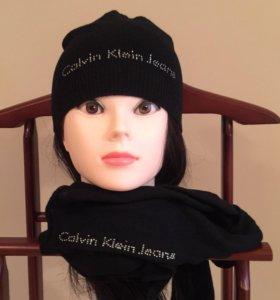 Шапка и шарф Calvin Klein