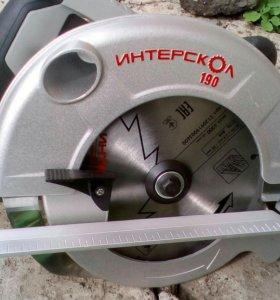 Пила дисковая Интерскол ДП-190
