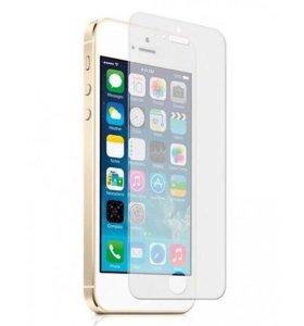 Защитная пленка (стекло) на экран iPhone 5, 5s