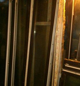 Пластиковые окна и двери бу в отличном состоянии