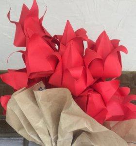 Цветы из цветной бумаги! Оригами