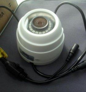 Купольные камеры видеонаблюдения на стену,потолок